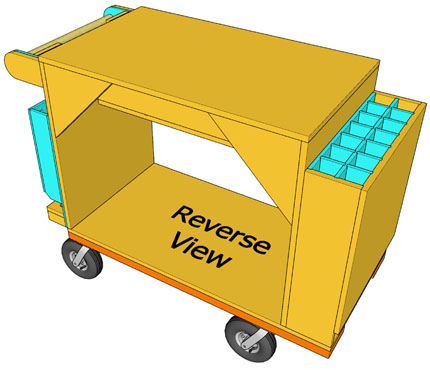 Reverse View Drawing of Cart
