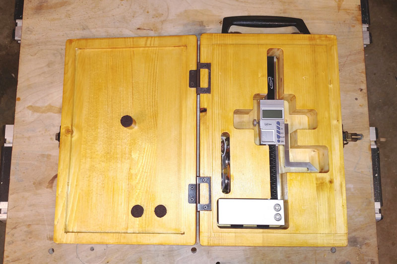 Open Height Gauge Box with Gauge Inside