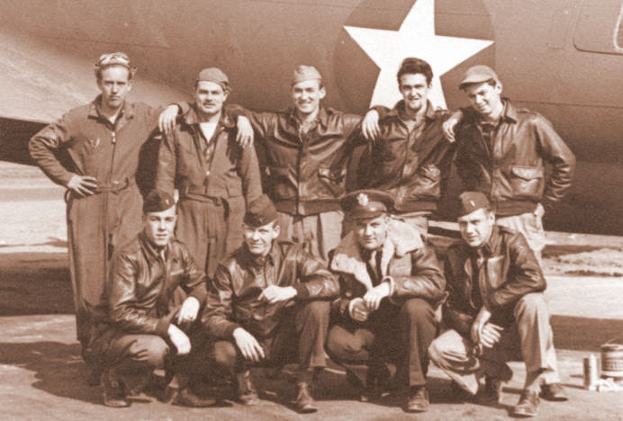 B-17 crew next to their plane