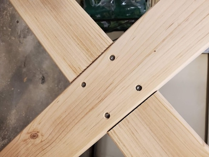 The Half-lap Joint that Joins the Two Cross Braces