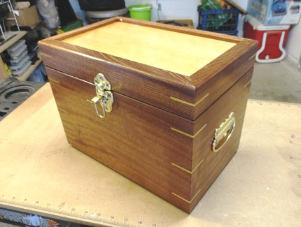 Sapele Box with Open Latch