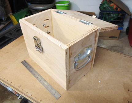 Plywood Box with Top Open